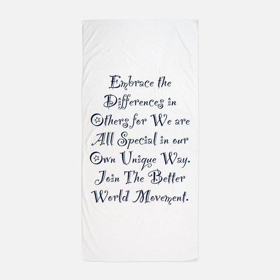 Embrace the Differences Beach Towel