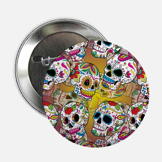 "Sugar Skulls 2.25"" Button"