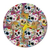 Day dead Round Car Magnets