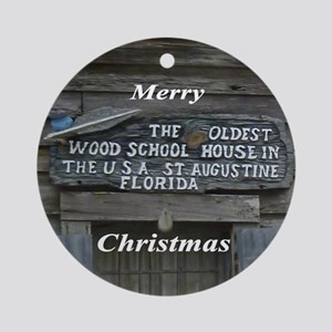 Oldest School House Ornament (Round)