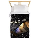 Space ship and stars Twin Duvet