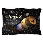 Space ship and stars Pillow Case