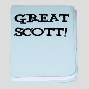 Great Scott 2 (black) baby blanket