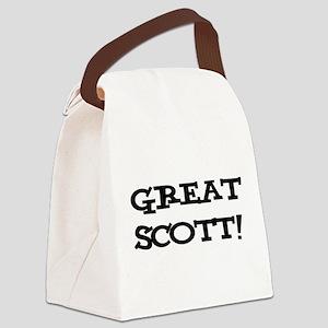 Great Scott 2 (black) Canvas Lunch Bag