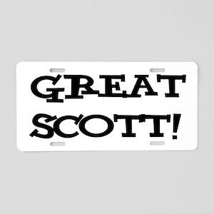 Great Scott 2 (black) Aluminum License Plate