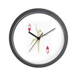 Ace Of Hearts Playing Card Design Wall Clock