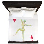 Ace of hearts playing card design King Duvet