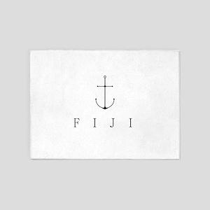 Fiji Sailing Anchor 5'x7'Area Rug