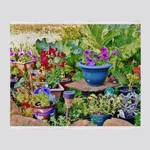 """LOVE A ROCK GARDEN"" Throw Blanket"