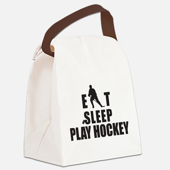 hockey46.png Canvas Lunch Bag