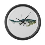 Dunkleosteus fish Large Wall Clock