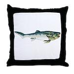 Dunkleosteus fish Throw Pillow