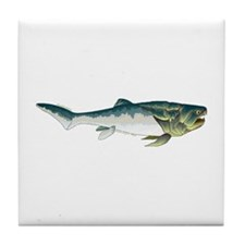 Dunkleosteus fish Tile Coaster