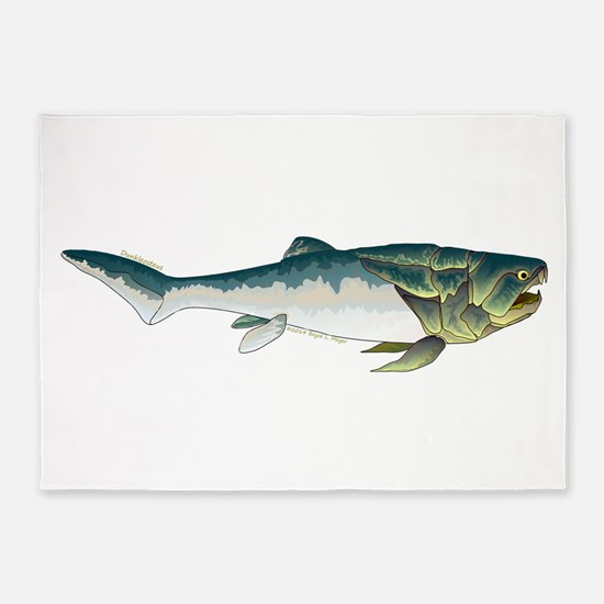Dunkleosteus fish 5'x7'Area Rug