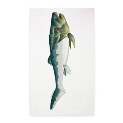 Dunkleosteus fish Area Rug