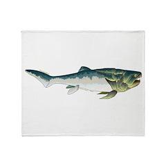 Dunkleosteus fish Throw Blanket