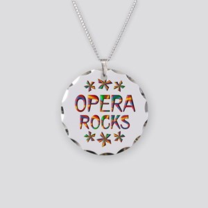 Opera Rocks Necklace Circle Charm