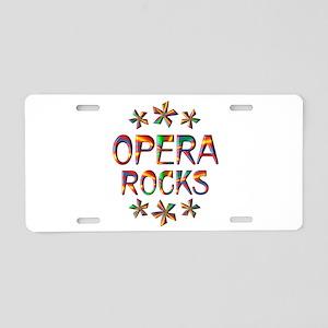Opera Rocks Aluminum License Plate