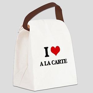 I Love A La Carte Canvas Lunch Bag