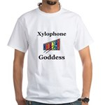 Xylophone Goddess White T-Shirt