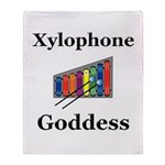 Xylophone Goddess Throw Blanket