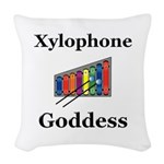 Xylophone Goddess Woven Throw Pillow
