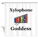 Xylophone Goddess Shower Curtain