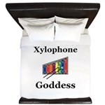 Xylophone Goddess King Duvet