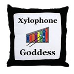 Xylophone Goddess Throw Pillow