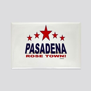 Pasadena Rose Town Rectangle Magnet