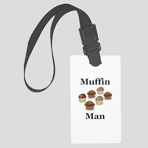 Muffin Man Large Luggage Tag