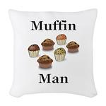 Muffin Man Woven Throw Pillow