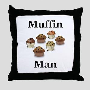 Muffin Man Throw Pillow