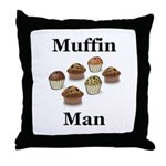 Muffin Man Throw Pillow