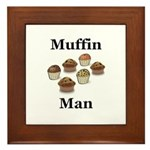 Muffin Man Framed Tile