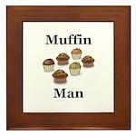 Muffin Man Framed Tile
