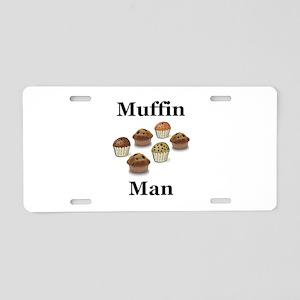 Muffin Man Aluminum License Plate