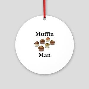 Muffin Man Ornament (Round)