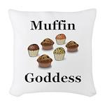 Muffin Goddess Woven Throw Pillow