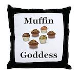 Muffin Goddess Throw Pillow