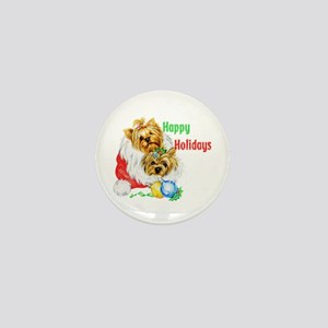 xmas puppies Mini Button