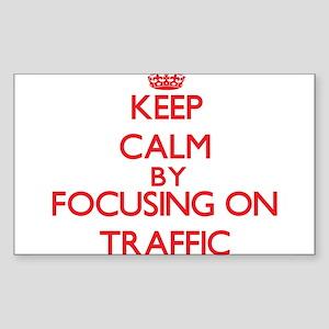 Keep Calm by focusing on Traffic Sticker