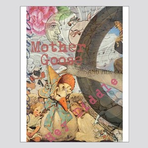 Vintage Mother Goose Collage Pretty Fairy tale Pos