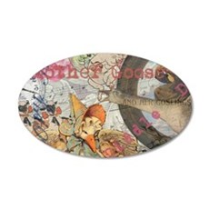 Vintage Mother Goose Collage Pretty Fairy tale Wal