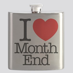 I Heart Month End Flask