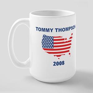 TOMMY THOMPSON 2008 (US Flag) Large Mug