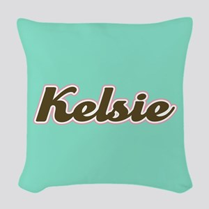 Kelsie Aqua Woven Throw Pillow
