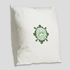 sally-face Burlap Throw Pillow