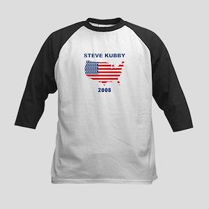 STEVE KUBBY 2008 (US Flag) Kids Baseball Jersey