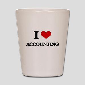 I Love Accounting Shot Glass